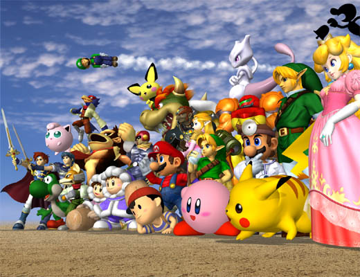 Final Smash Bros. Melee Characters Picture