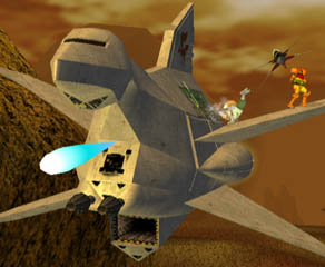 Starfox Ship Battle on Venom